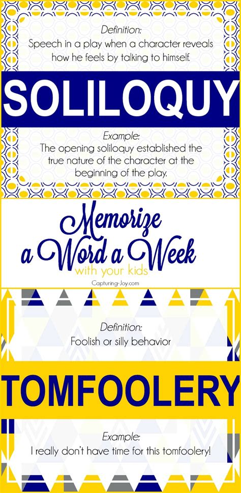 challenging vocabulary words challenging words and confidence in learn a word a week