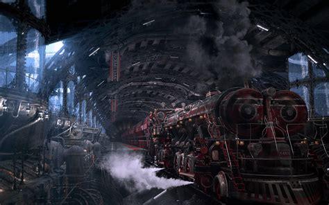 wallpaper engine not in steam library fantasy art digital art train station steam