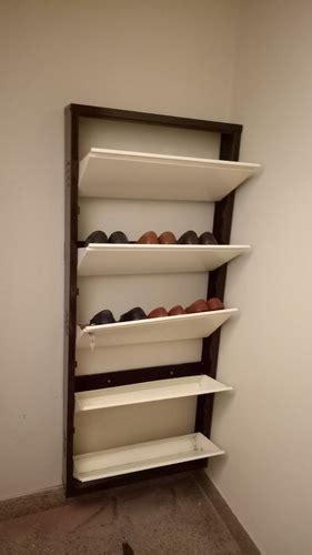 wall mounted shoe cabinet wall mount shoe rack home ideas