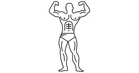 Outline Of A Bodybuilder by Muscular Outline Of A Bodybuilder Flexing Free Icons