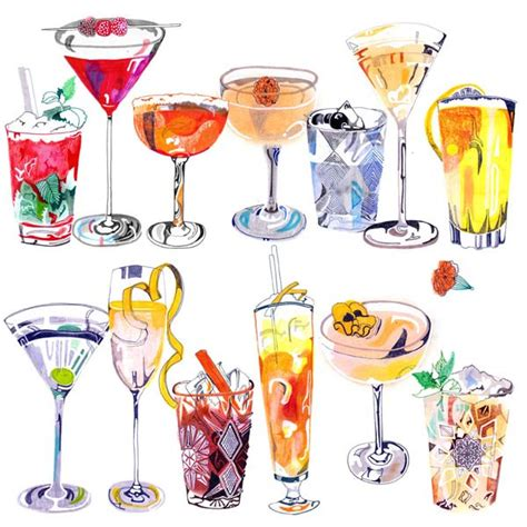 cocktail drawing drawings of cocktails