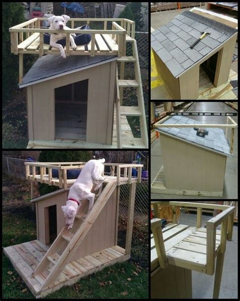 dog house with deck on top pin by jacob perillo on good stuff pinterest