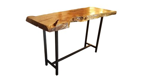 Live Edge Bar Table Live Edge Bar Height Table Chairish