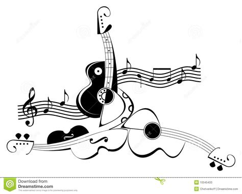 imagenes de guitarras blanco y negro instrumentos musicales de la cadena viol 237 n y guitarra