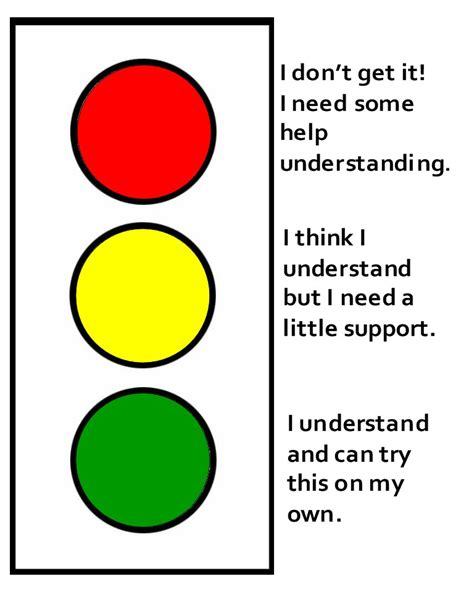 Traffic Light Cards Template by Traffic Light Mistercooke S Teaching