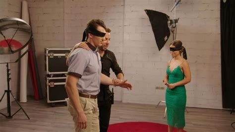 Is Dating Like Being Blindfolded blindfolded strangers look for at on