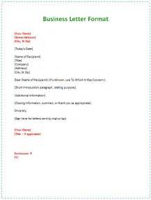 format of a business letter exle best 25 formal business letter format ideas on