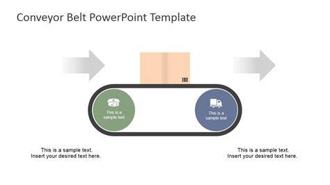 industrial revolution powerpoint template flat conveyor belt powerpoint template slidemodel