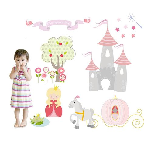 princess stickers for walls princess fabric wall stickers by littleprints notonthehighstreet