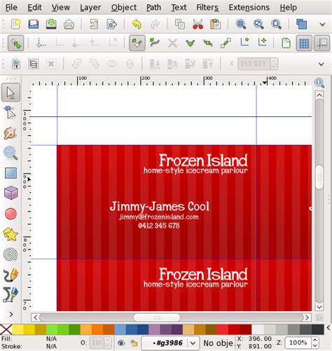 inkscape business card template inkscape business card tutorial lerch