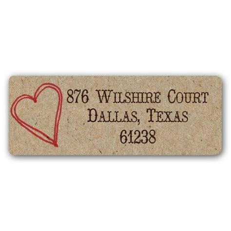 rustic printable address labels rustic heart return address labels paperstyle