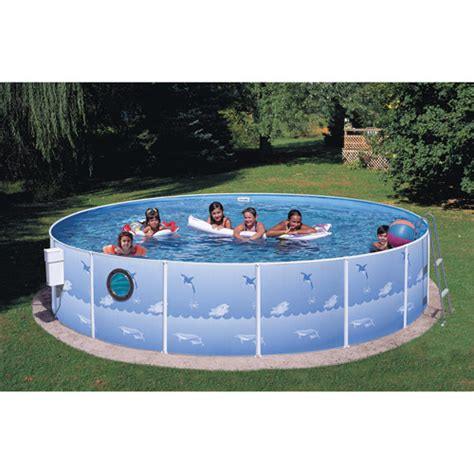 backyard pools walmart heritage round 12 x 36 metal walled swimming pool