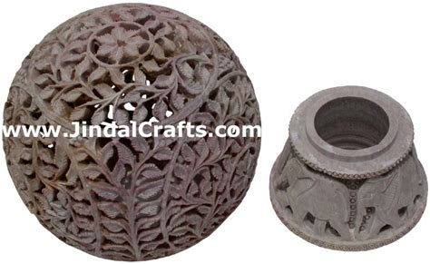 Soapstone Candle Holders Soapstone Candle Holder Indian Hand Carving Jaali Art
