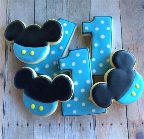 Bando Baby Miki Blue baby mickey cookies by lapetitecookie 33 00 blue