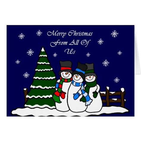 merry christmas     snowmen cards zazzle