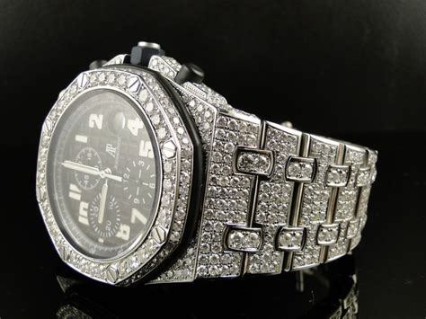 Mens Iced Out Audemars Piguet Royal Oak Offshore Diamond