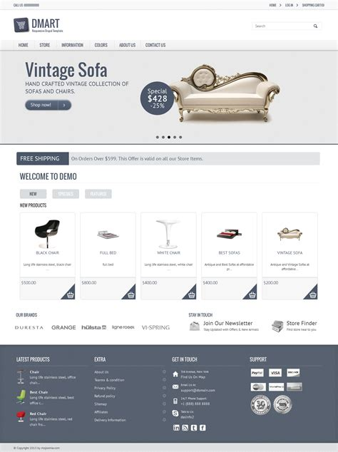 drupal commerce templates dmart clean and responsive drupal commerce theme my