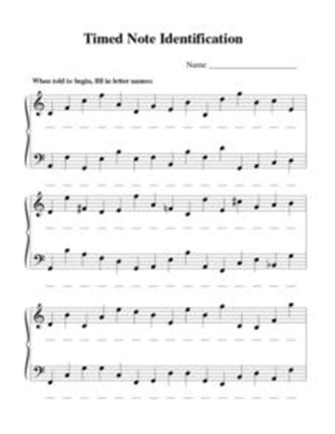 Note Identification Worksheet by Timed Note Identification 5th 9th Grade Worksheet