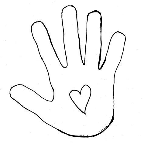 child handprint template clipart best