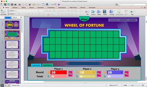 Wheel Of Fortune For Powerpoint Version 4 0 Beta 2 Tim S Slideshow Games Wheel Of Fortune Power Point