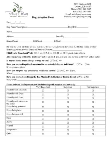 pet adoption certificate forms and templates fillable