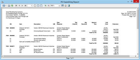 Expediting Report Excel Template