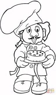baker coloring page free printable coloring pages