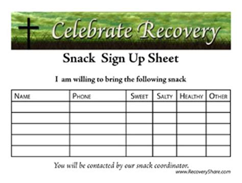 snack sign up template snack sign up sheet template word images frompo