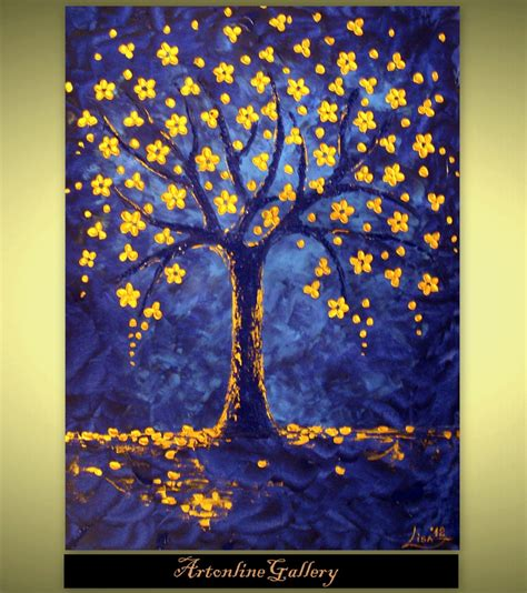 acrylic painting ideas trees tree of painting 60 large size by