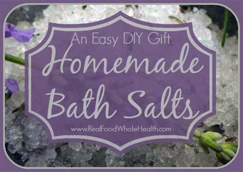 Easy Handmade Diy Bath Salts - easy diy bath salts