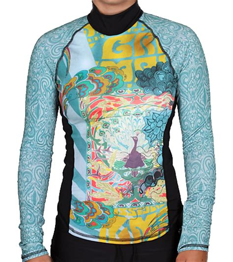 girls4sport zen garden l s rashguard with shelf at