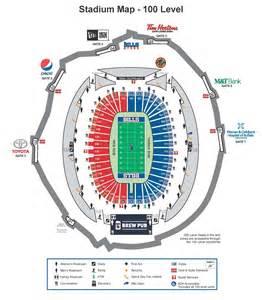 of stadium map stadium maps buffalo bills