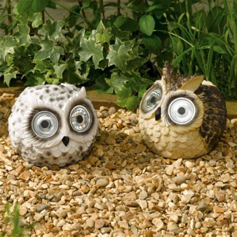 Solar Powered Owl Garden Lights Owl Solar Lights