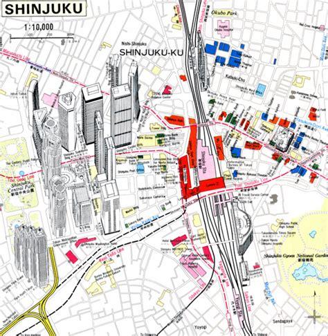 tokyo map tourist attractions shinjuku tokyo japan tourist map new zone