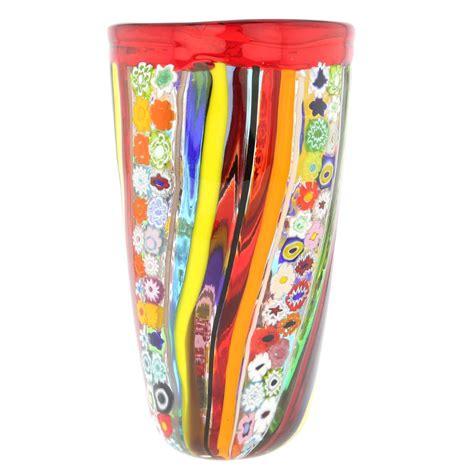 murano millefiori vase murano glass vases murano glass primavera millefiori vase