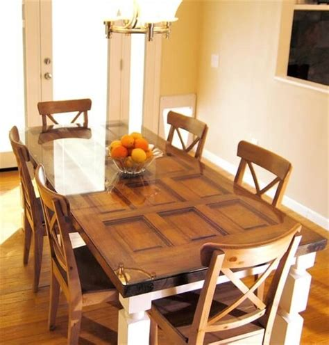turning an old door into a dining room table how to make a dining table out of a old door diy and crafts