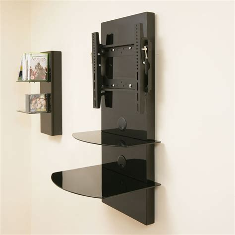 Tv Wall Mounts With Shelf by Tv Wall Mount Bracket Shelves Tilt Vesa Lcd Up To32 Ebay