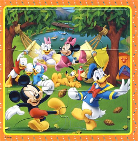 Puzzle Mickey Mouse mickey mouse 06pc jigsaw puzzle gubibaby
