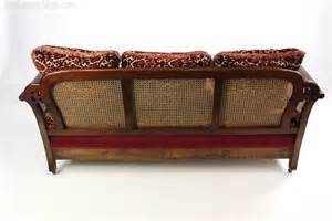 cane settee furniture mahogany upholstered bergere cane sofa settee antiques atlas