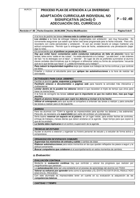 Modelo Adaptacion Curricular Significativa Ingles 5 Modelo Adaptaci 243 N Curricular No Significativa Calameo Downloader