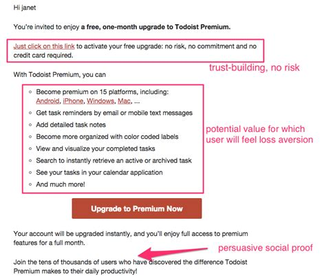 Promotion Letter Subject Line The Psychology Of Upgrade Emails Make Something To Lose Customer Io