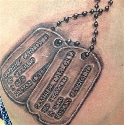 collection of 25 dog tags military tattoo design