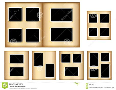 old photo album pages stock vector image of isolated