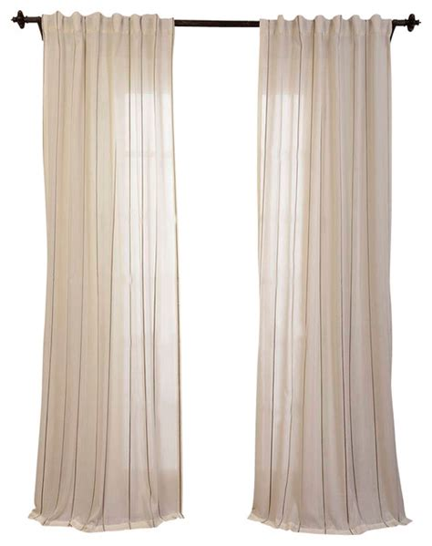 Gold Sheer Curtains Aruba Gold Striped Linen Sheer Curtain Transitional Curtains By Half Price Drapes