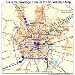 aerial photography map of san antonio tx
