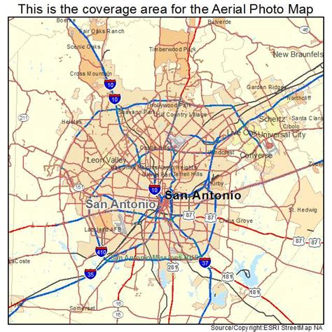 texas map san antonio aerial photography map of san antonio tx texas