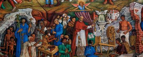 fragmento del mural de juan ogorman historia de michoacan