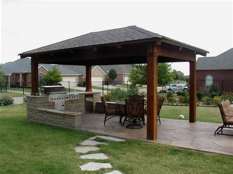 backyard covered patio outdoor kitchen design ideas home design and decoration