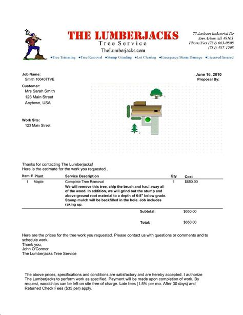 tree removal quote template pin tree stump removal on
