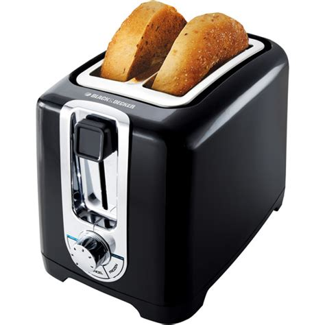 toasters at walmart bd 2 slice toasterwideslot blk walmart